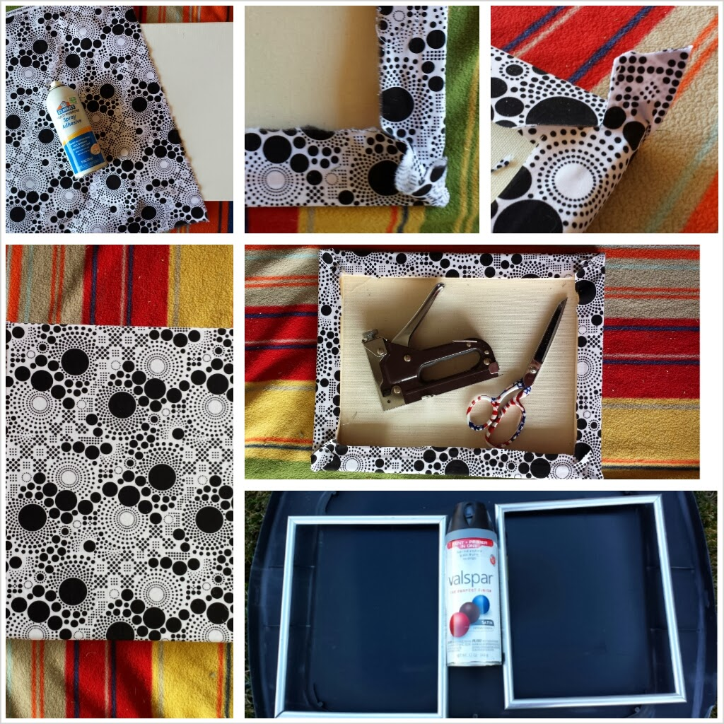 not your average neighbor fabric covered canvas diy. Black Bedroom Furniture Sets. Home Design Ideas