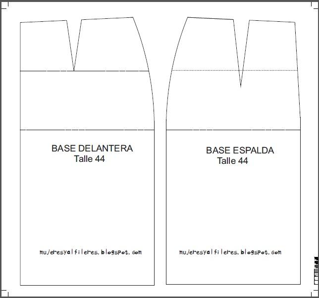 Mujeres y alfileres: Moldes base de pollera para imprimir
