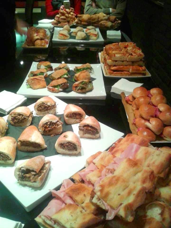 panini e pizza d'autore alla  presentazione della guida I Cento di Roma 2015