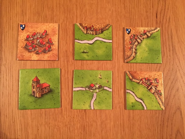 Typical Carcassonne tiles