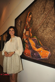 Sushmita Sen Latest Pictures in Short Dress at Art Exhibition of Women and We Men  0011