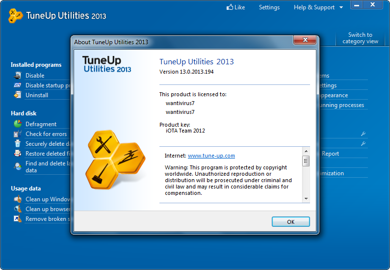 Tuneup utilities 2017 v8.0.1200 incl. serial