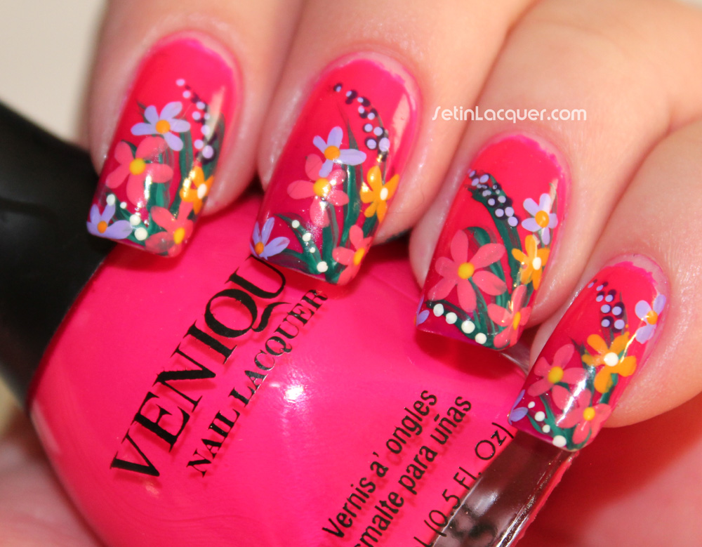 Set in lacquer winstonia floral nail art created using winstonia 8 piece nail art set prinsesfo Gallery
