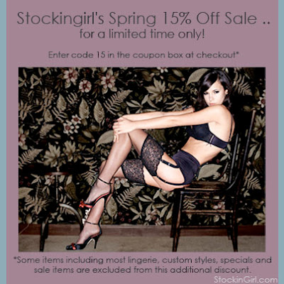 StockinGirl.com 15% Off Sale!