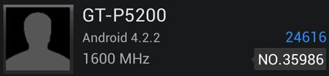 Samsung GT-P5200 Benchmark