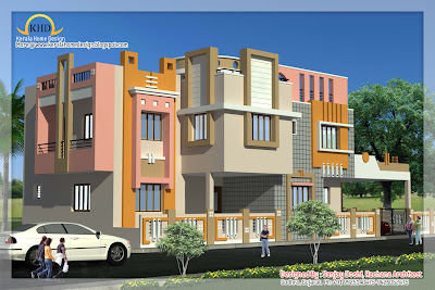 Indian style home plan and elevation design - Kerala home design and