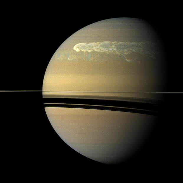 Huge storm on Saturn witnessed by the Cassini spacecraft!