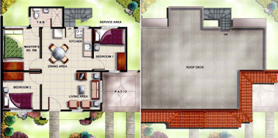 Walnut House Model Floor Plan at Villa Montserrat Taytay