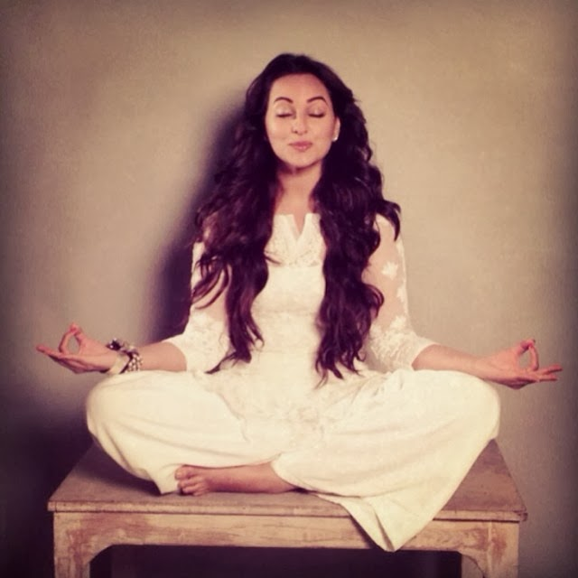 In Picture: Sonakshi Sinha doing Yoga