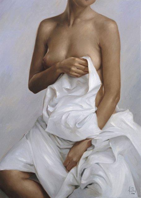 Lluís Ribas 1949 | Spanish Luminist Figurative painter
