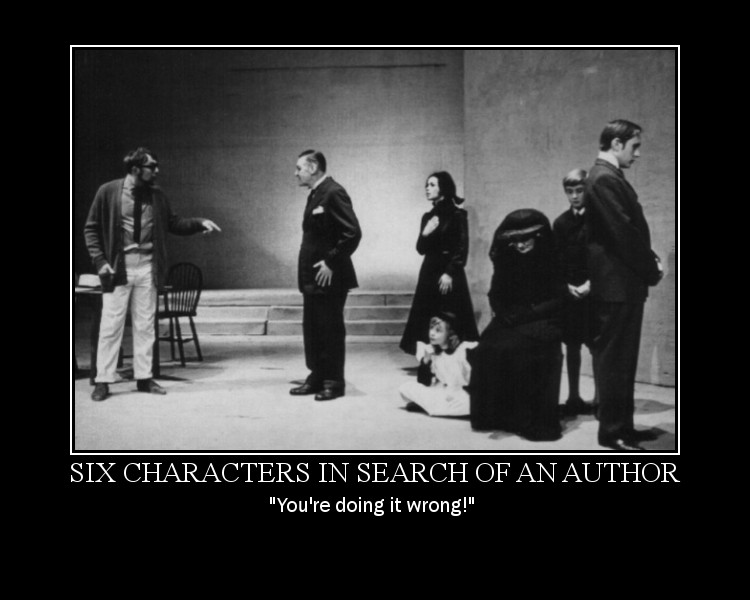 six characters in search of an author essay questions Six characters in search of an author dissertation on vocabulary acquisition waiver persuasive essay writing powerpoint questions essay writing gcse english.