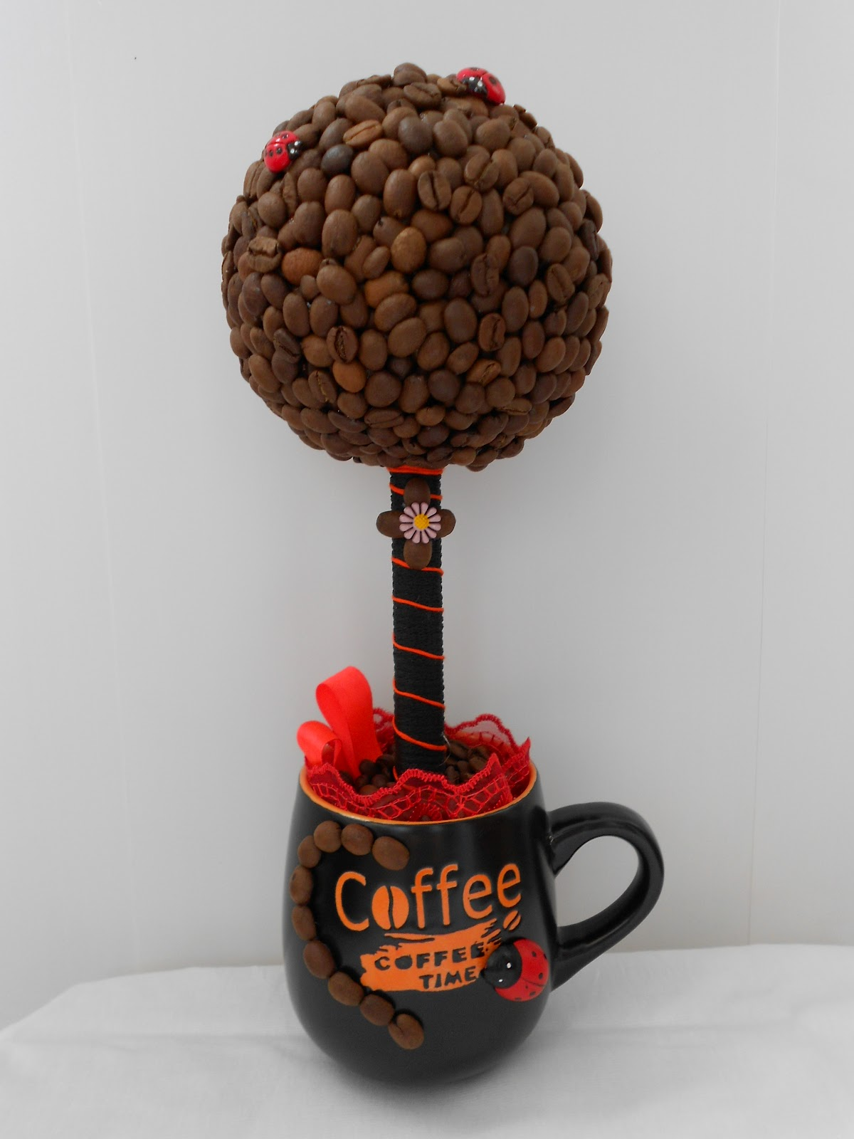 Топиарий из кофе : фото своими руками, кофейное дерево мастер класс, как 69