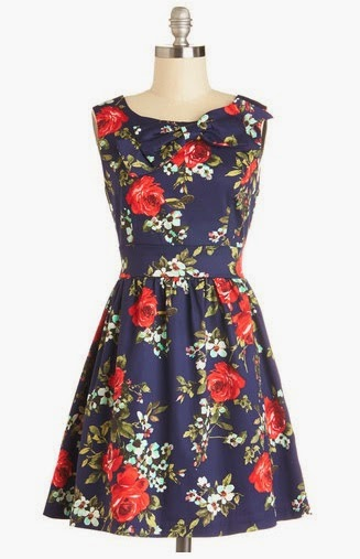 Retro Floral Dress ModCloth