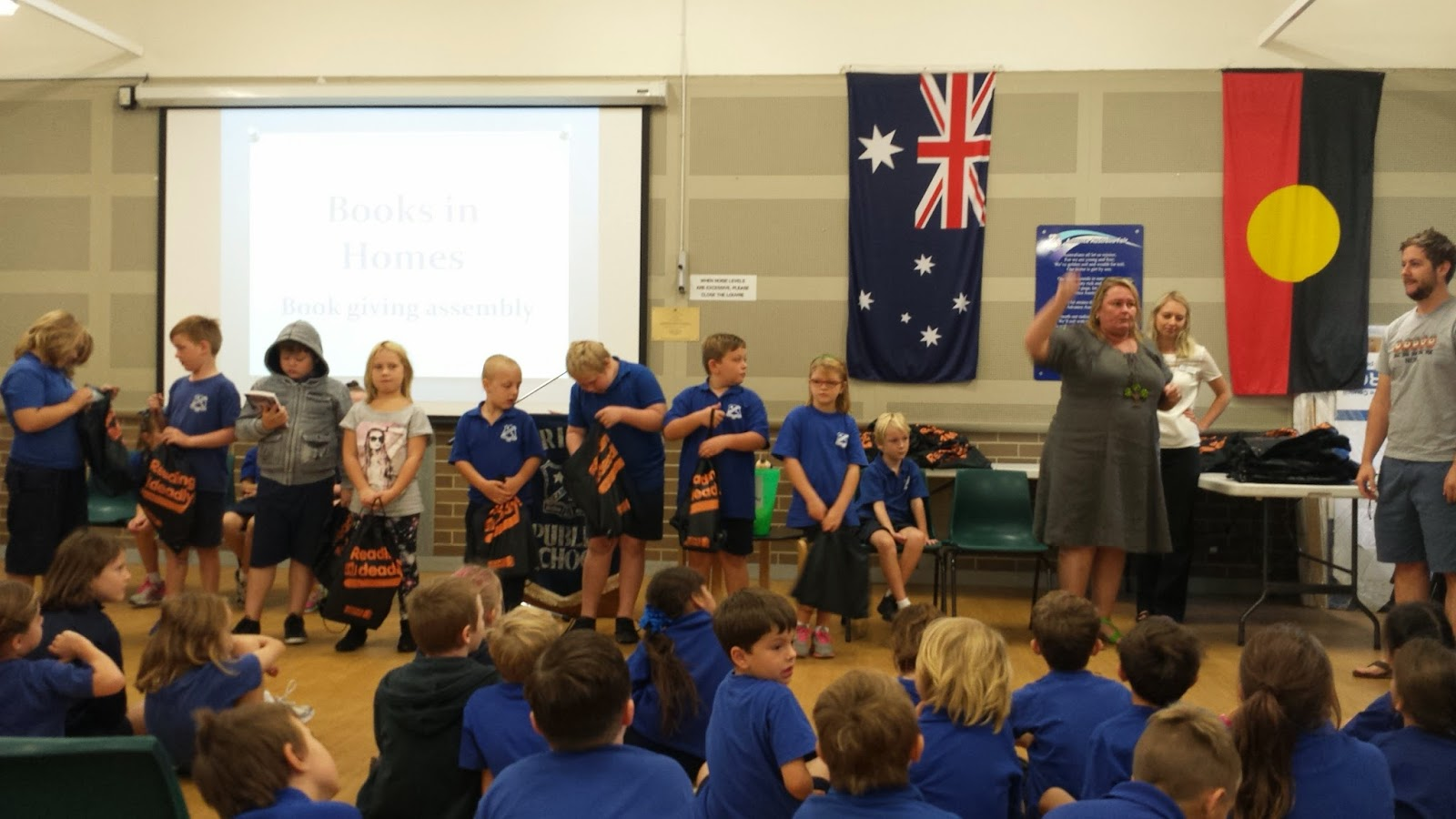Books in homes school assembly