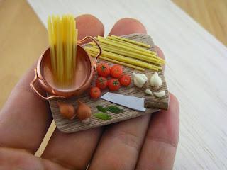 Macarrao em miniatura