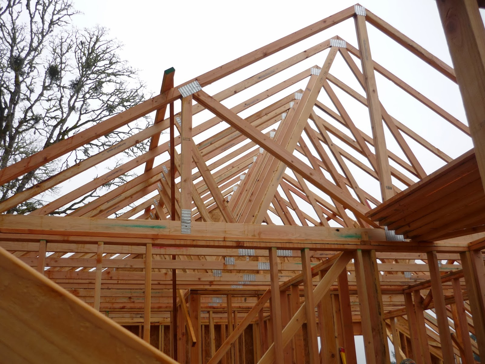 Sparrow hill house project roof trusses Pre made roof trusses