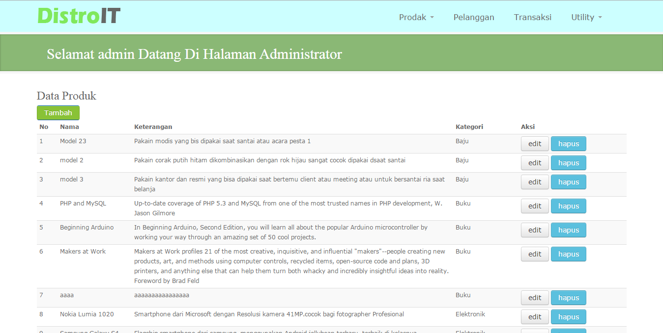 Screenshot E-Commerce Griya IT dengan PHP dan MySQL ~ Tobi ...