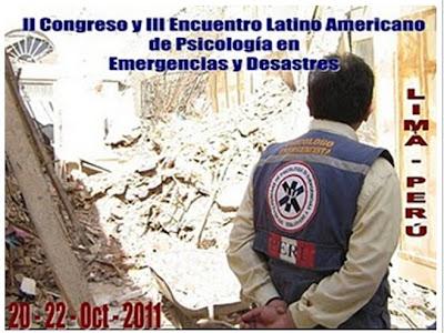 CONGRESO PSICOLOGIA EMERGENCIAS Y DESASTRES PERU 2011
