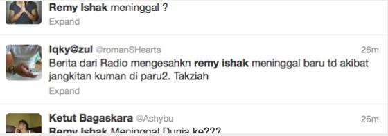 Remy Ishak Tak Meninggal Hentikan Fitnah