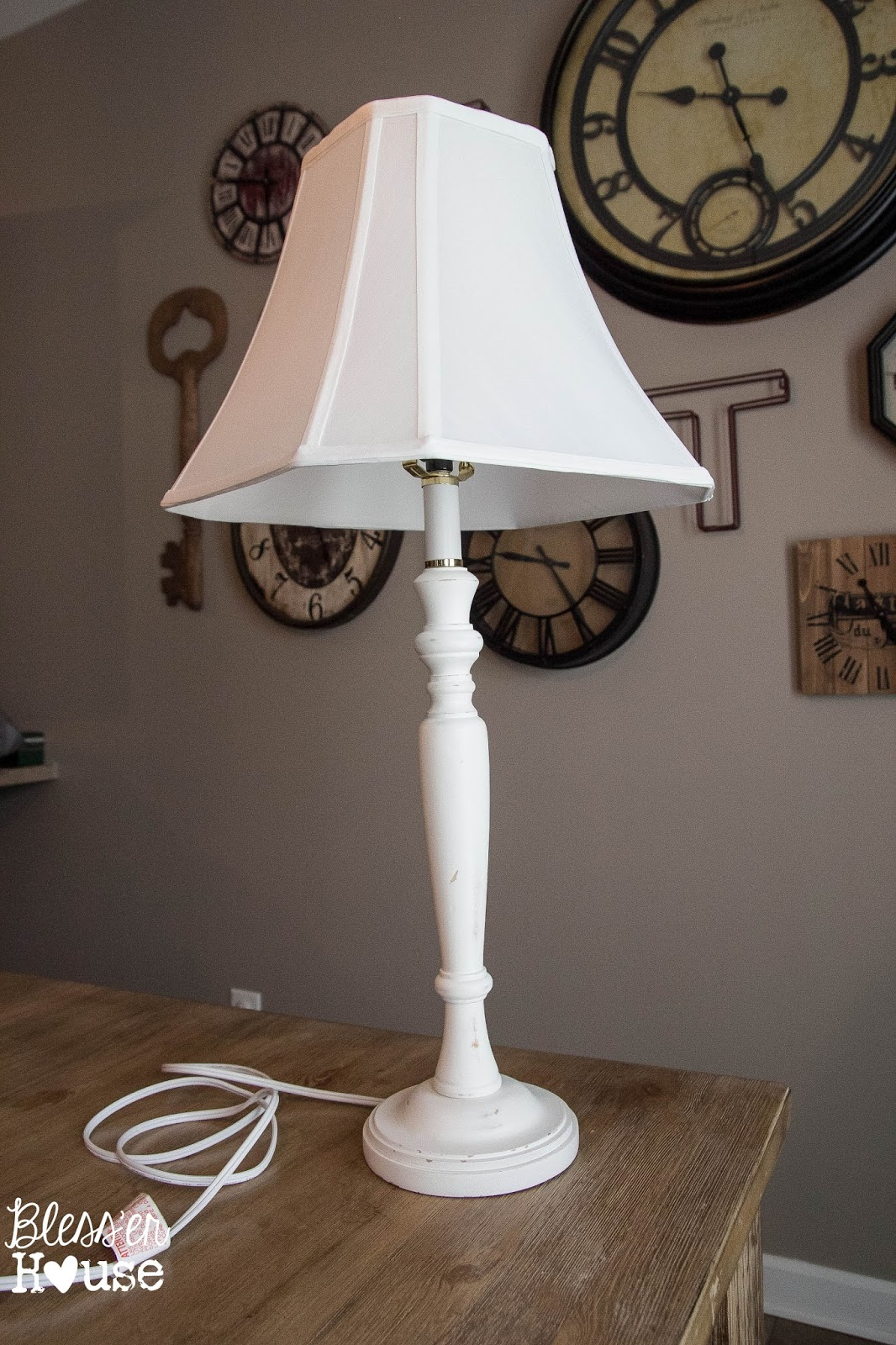 Joanna Gaines Inspired Industrial Farmhouse Lamp February Pinterest Challenge Bless Er House