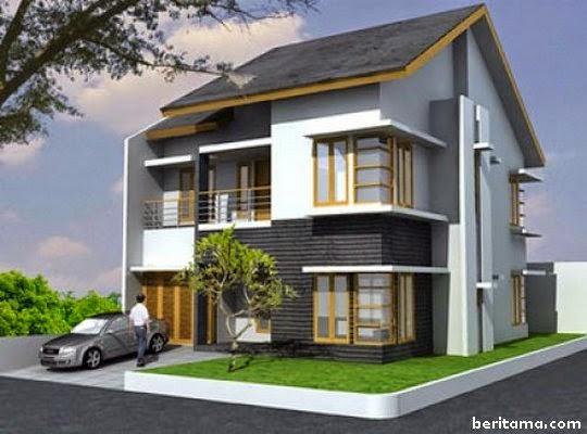 rumah minimalis modern dua lantai