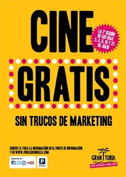 Cine gratis en el Centro Comercial Gran Turia de Valencia