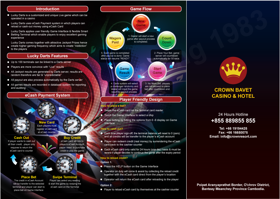 Bavet Cambodia  city photos : vincianart blog: Cambodia Crown Bavet Casino & Hotel Darts Brochure ...