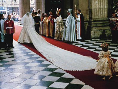 Royal Wedding Pictures: Princess Diana gown back