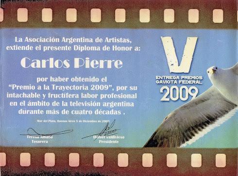 PREMIO GAVIOTA FEDERAL 2009 A LA TRAYECTORIA EN TV