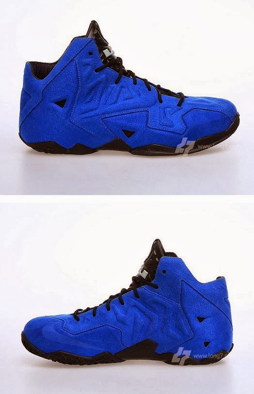 THE SNEAKER ADDICT: 2014 Nike Lebron 11 XI EXT Blue Suede ...