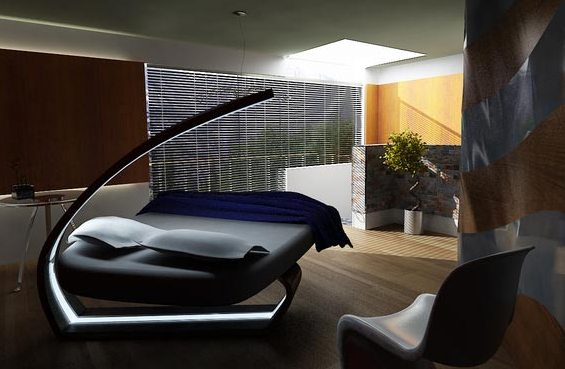 Design And Furniture: Futuristic Bedroom Design LED ...