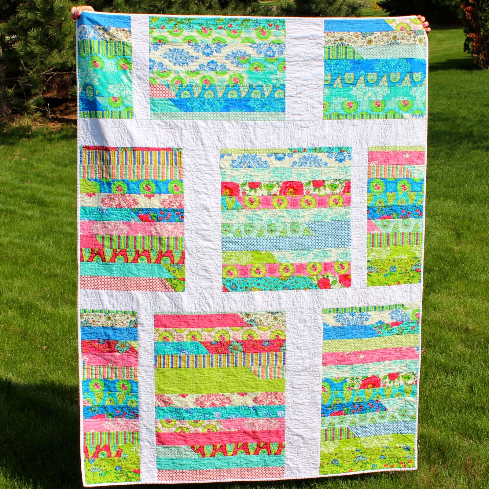 Jelly Roll Chop Quilt