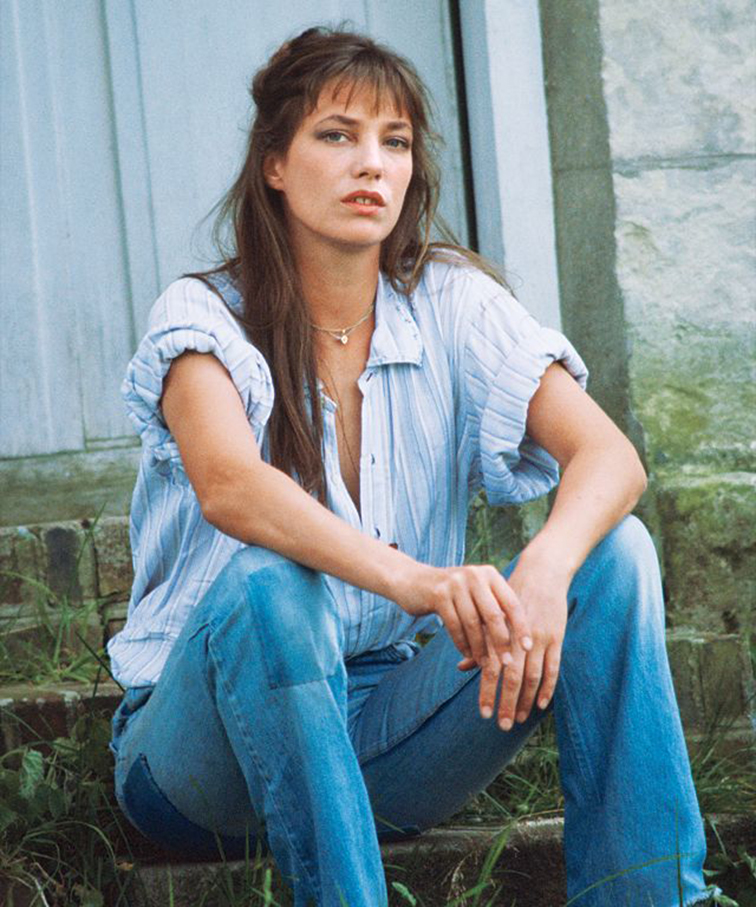 Jane Birkin, 60s-70s icon, flower child, boho chic, style muse