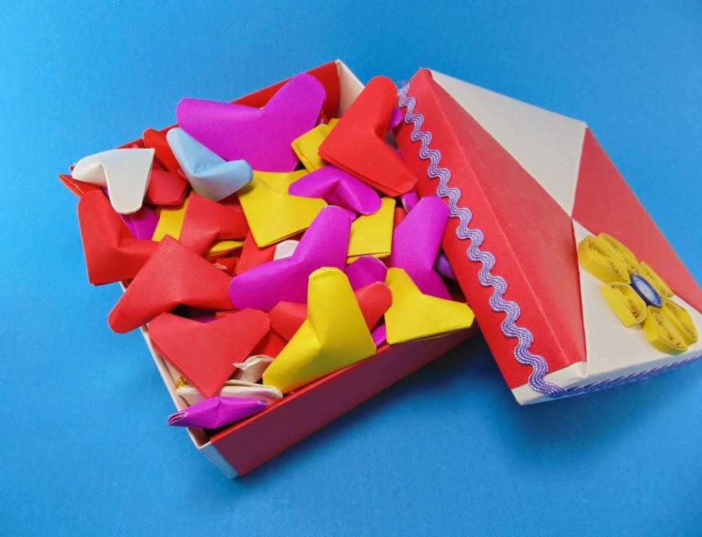 Coração origami namorados