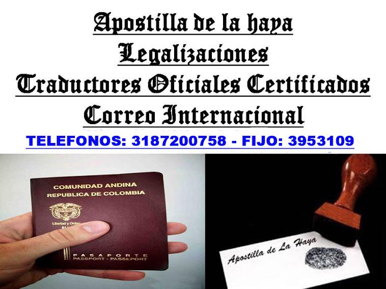 APOSTILLAS A $ 35.000 Y LEGALIZACIONES A $ 25.000