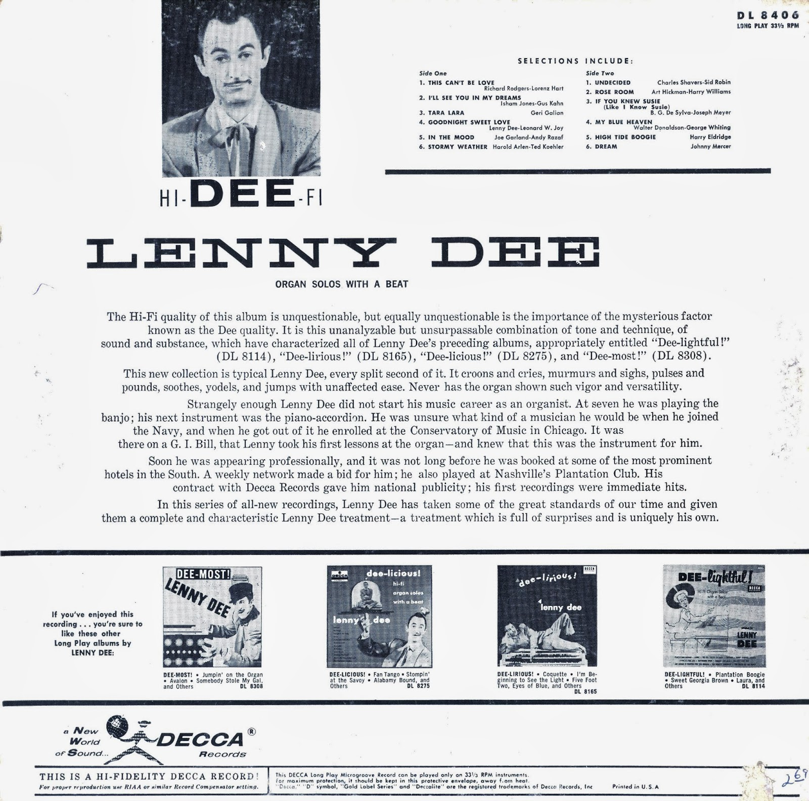 Lenny Dee - Tara Lara / High Tide Boogie