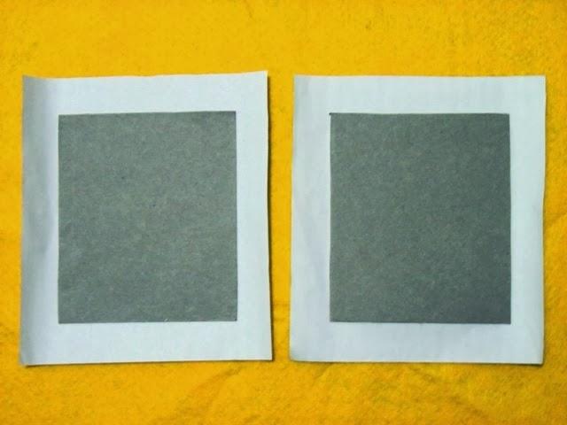 Oleskan salah satu sisi dari karton tebal dengan lem putih.