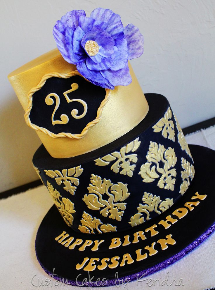 GOLDEN ROYAL DAMASK PATTERN CAKE SINGAPORE 21ST LONGEVITY CLASSIC DESIGN THEME BLACK GOLD ELEGANT WEDDING