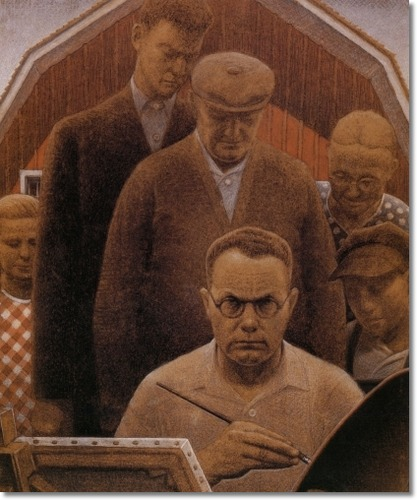 grant wood paintings