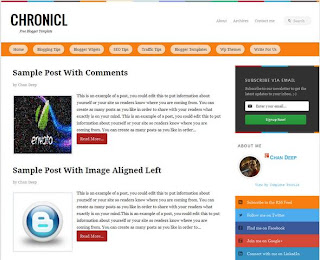 Chronicl-Blogspot Template with Responsive Layout