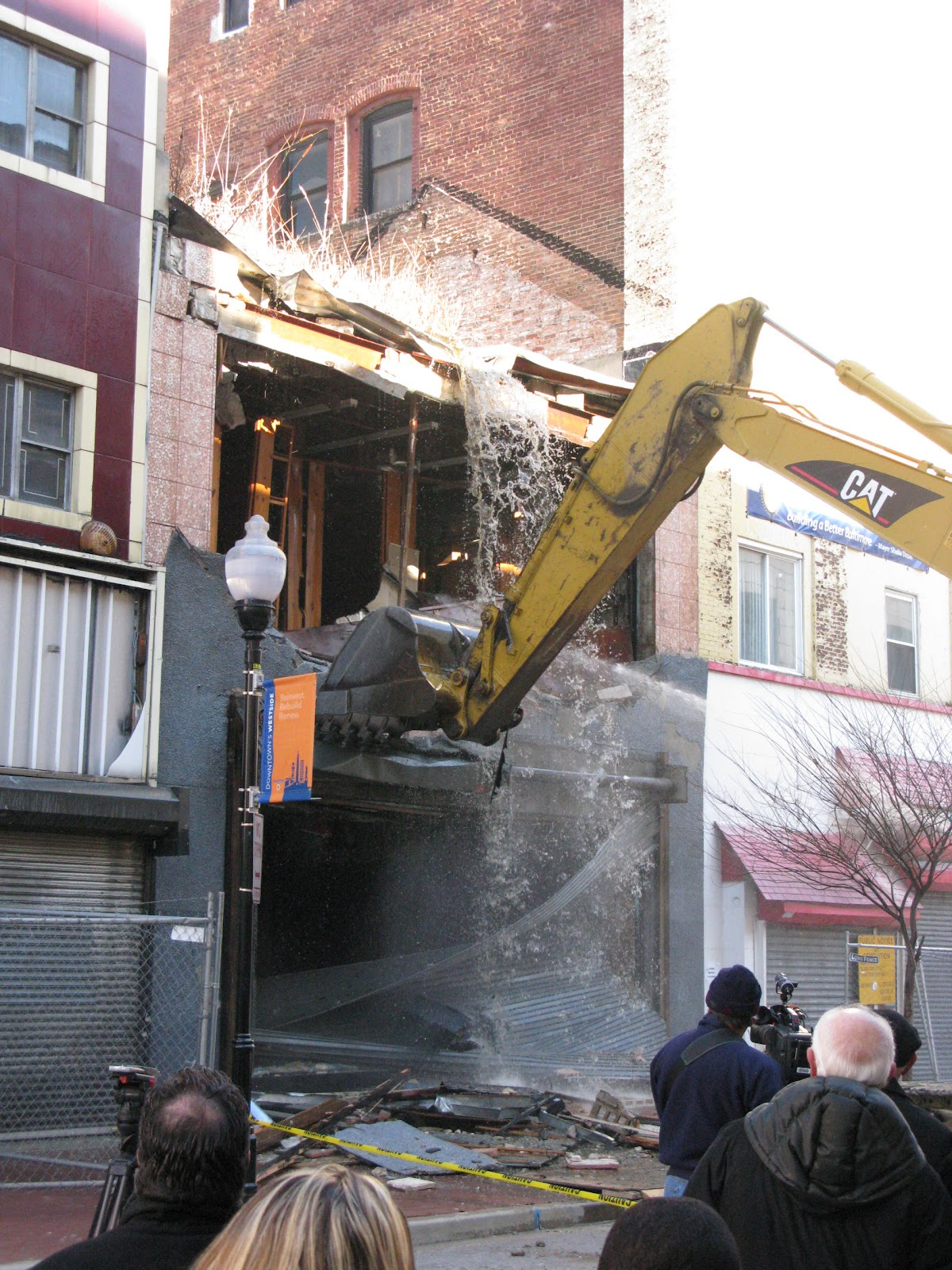 official demolition ceremony for buildings in the weinberg block january 14 2010