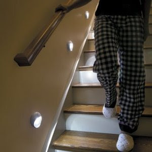 Motion Sensing LED Step Light, White