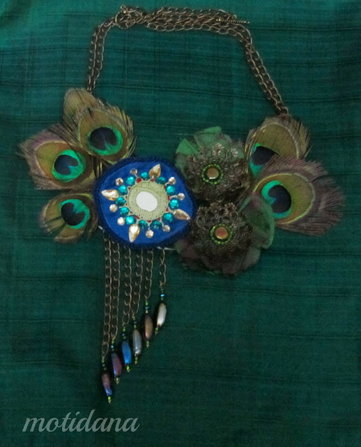 peacock necklace . peacock feathers , unique jewellery ,вышивка шиша