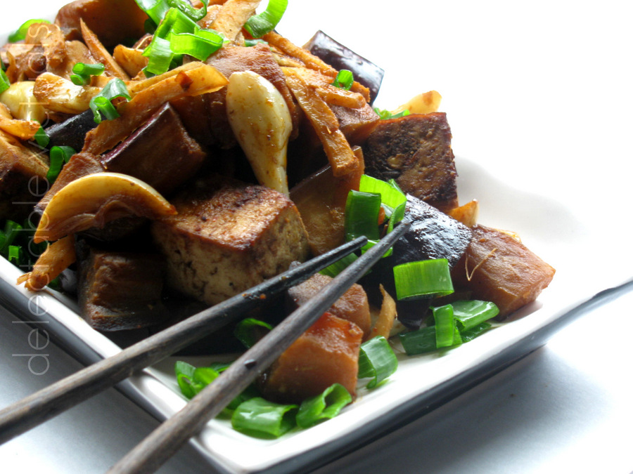 ... tofu with ginger and garlic is quite heavenly pan fried or baked tofu