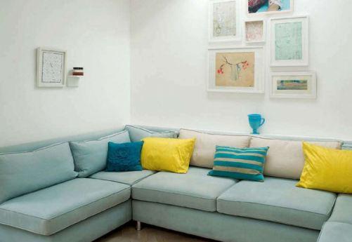 Casa da nane sof s e poltronas azul turquesa for Sofa azul turquesa
