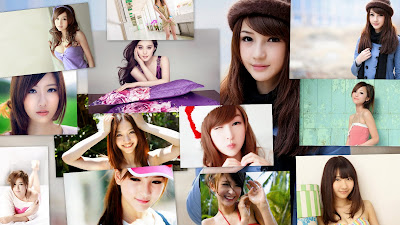 Cute Asian Girl Theme For Windows 8