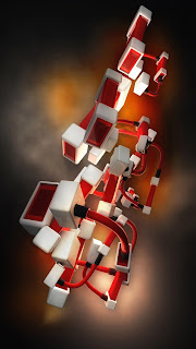 download Connected Cubes iPhone 5 HD wallpaper 2013