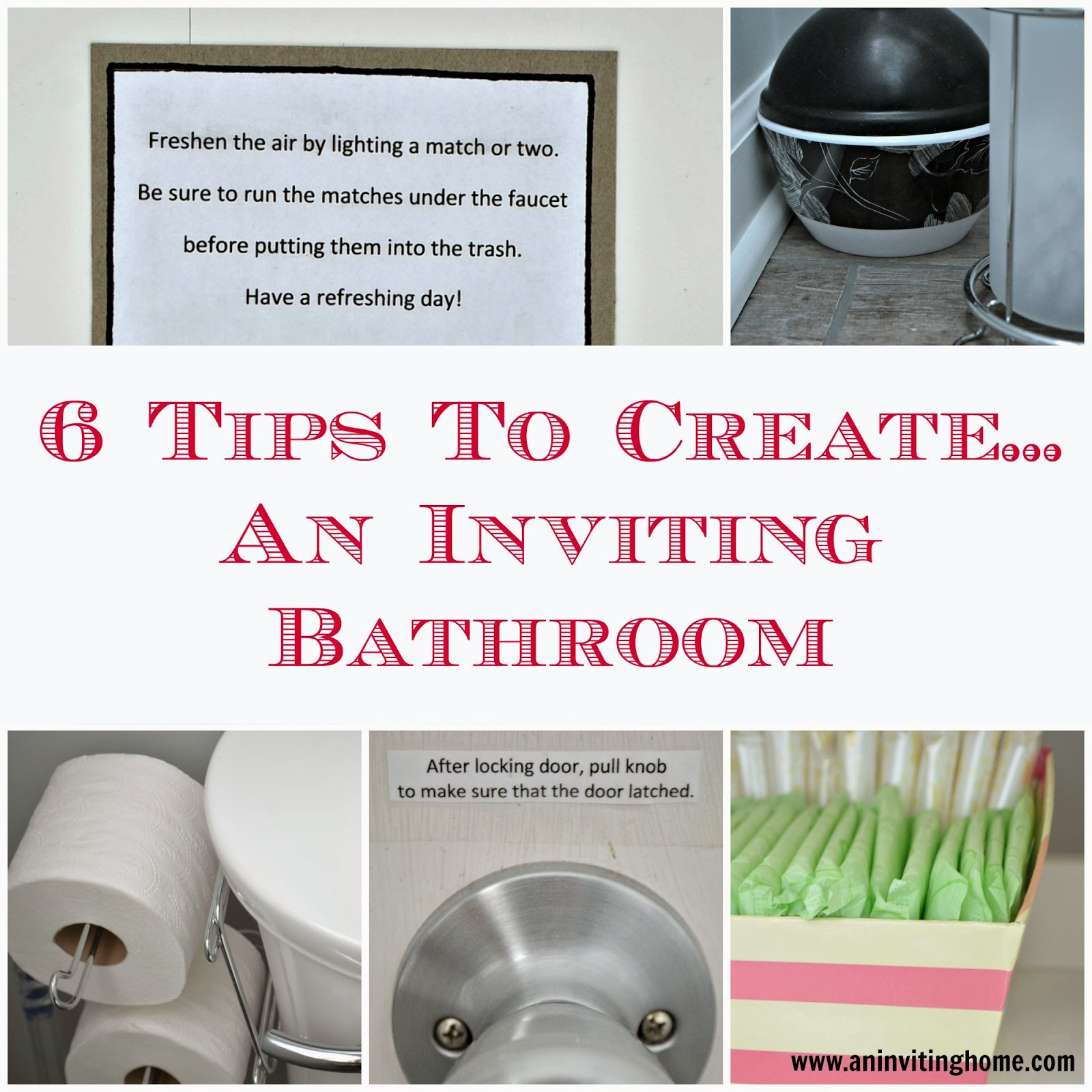 6 tips to creating an inviting bathroom for guests