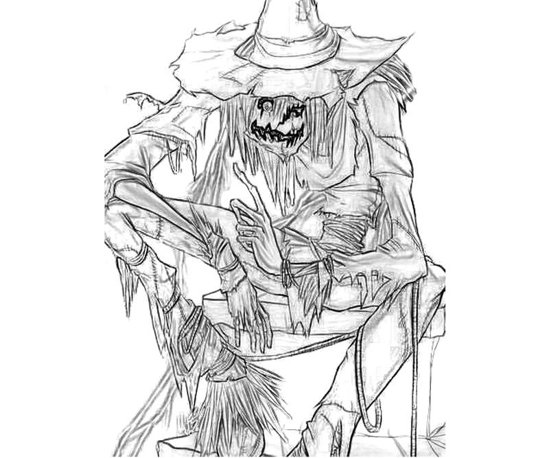 batman-arkham -city-riddler-scarecrow-character-coloring-pages
