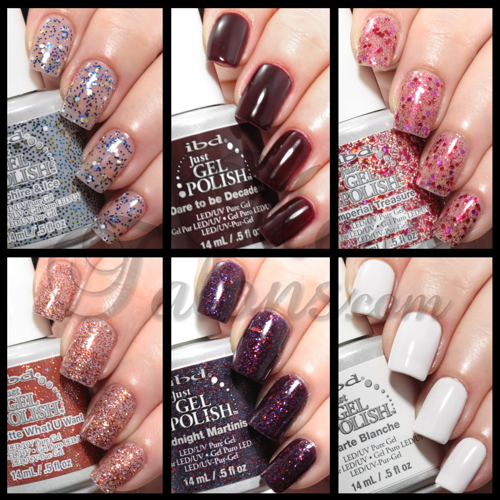 Manic Talons Nail Design: IBD Just Gel Polish Haute Frost Collection ...